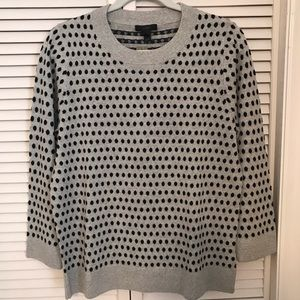 J Crew Polka Dot Sweater